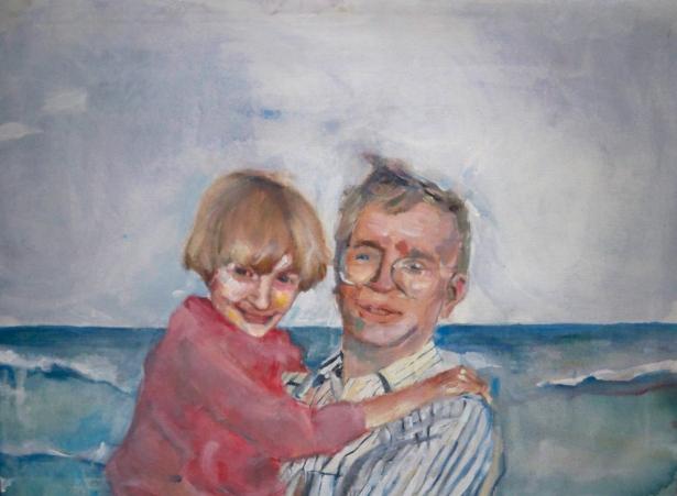 At the Beach Acrylic on Canvas 24x32 2010