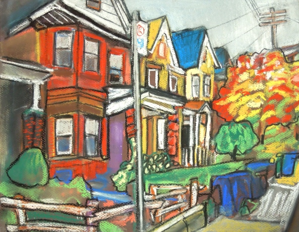 "224 Palmerston pastel on paper 8""x11"" 2013"