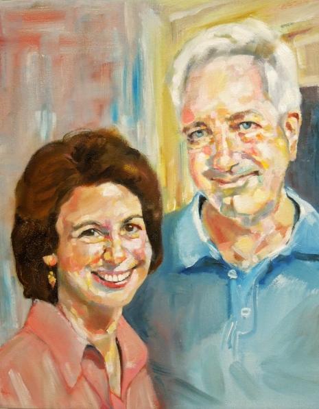 "Marjorie & Brad Oil on Canvas 16x20"" 2013"