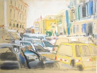 "chalk pastel on paper 11x14"" 2014"