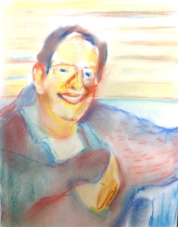 "John 9""x11"" Chalk Pastel on Paper 2012"