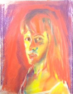 Kathy Chalk Pastel on Paper 9x12 2012